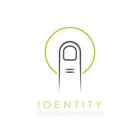 touchpad: Abstract identity vector logo
