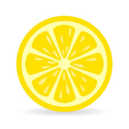 Limone icona fetta vettore