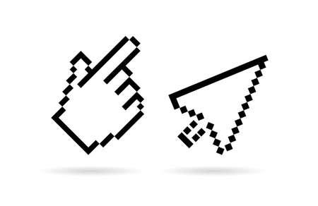 Hand arrow cursor vector icon