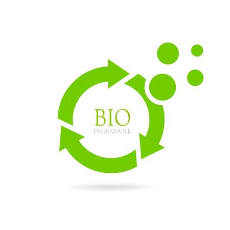 Biodégradable abstrait icône vecteur Banque d'images - 72875426