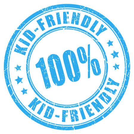 secure: Kid friendly vector stamp