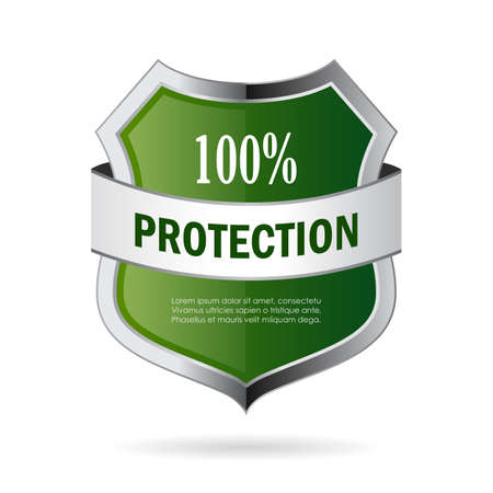 Green shield protection vector icon