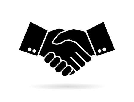 Hand shake silhouette vector icon  イラスト・ベクター素材