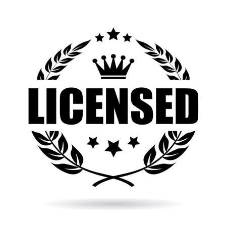 Lizenzprodukt Lorbeer Vektor-Symbol