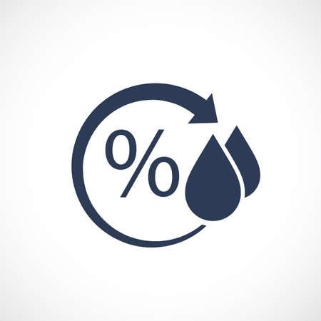gotas de agua: Humedad pictograma vector