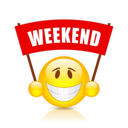 glad: Weekend vector banner