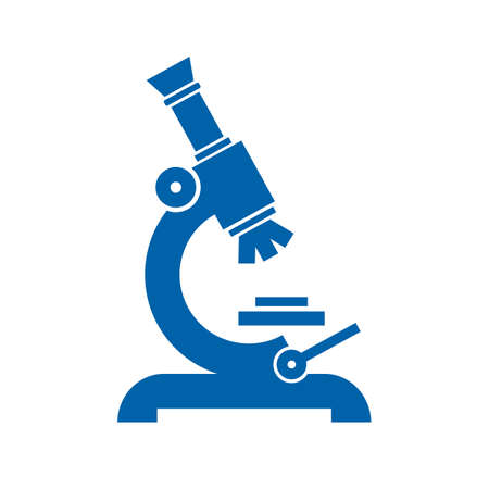 Microscope vector icon Illustration
