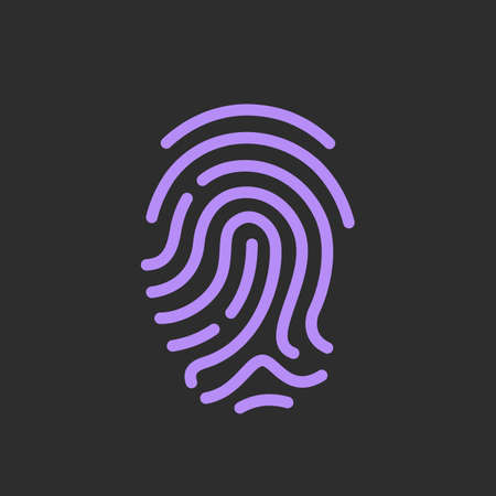 Finger print vector icon, identity concept Illustration