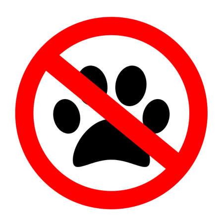 No pets allowed vector sign Illustration