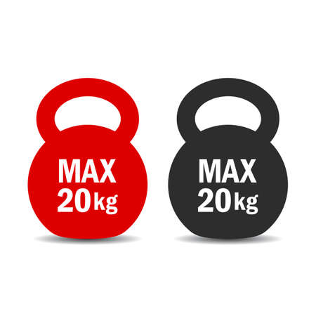 limit: Maximum load weight vector icon