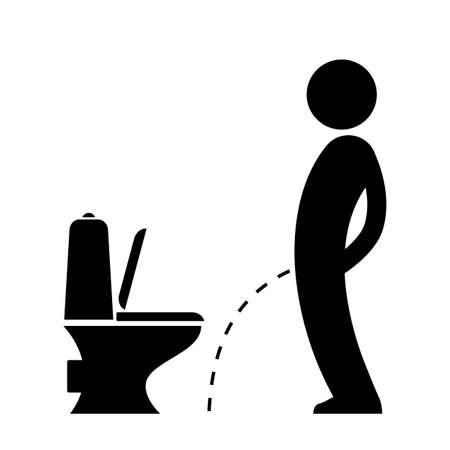 deviant: Man peeing on the floor pictogram