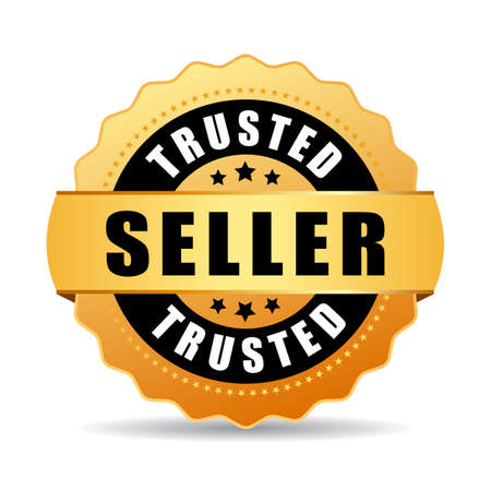 most popular: Trusted seller gold vector icon