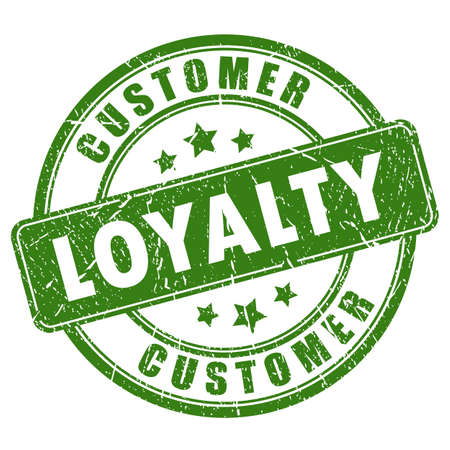people icon: Customer loyalty rubber vector stamp Illustration