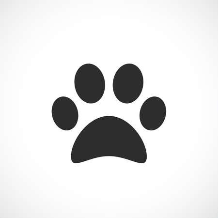 icon vector: Dog paw vector icon