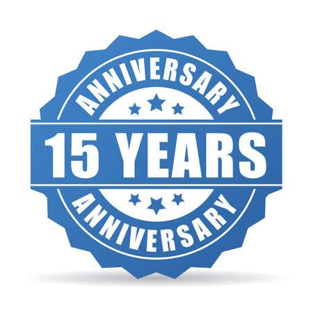 birthday party: 15 years anniversary celebration vector icon