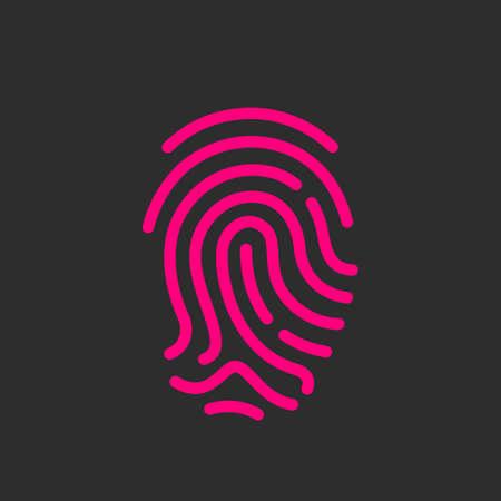 secure: Finger print vector icon Illustration