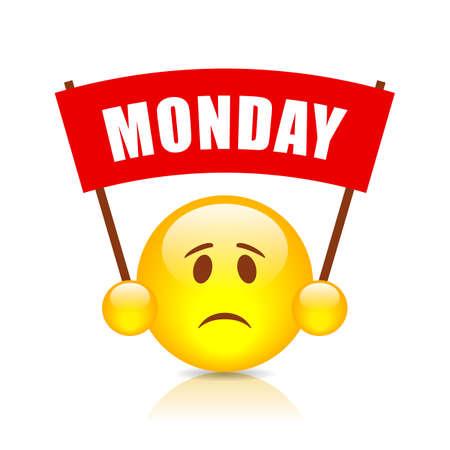 Monday banner sign Ilustração