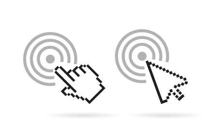touch screen interface: Computer cursor vector icon
