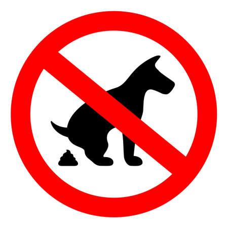 Kein Hund pooping Zeichen Standard-Bild - 74010889