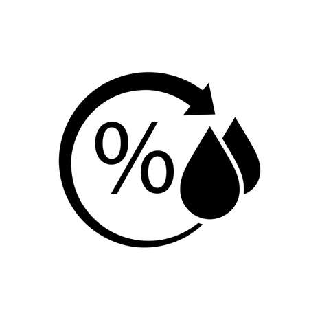 vapore acqueo: simbolo di umidità Vettoriali