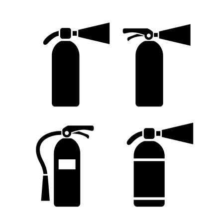 disaster: Fire extinguisher vector pictogram