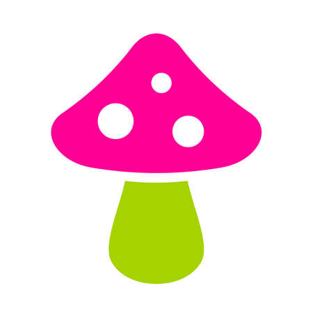 Exotic mushroom icon Illustration