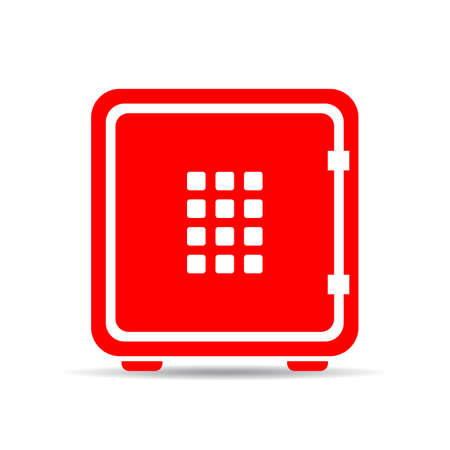 solid: Digital safe vector icon