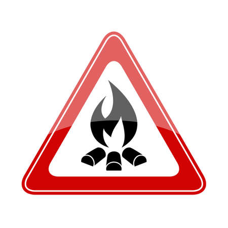 hot: Fire warning triangle sign
