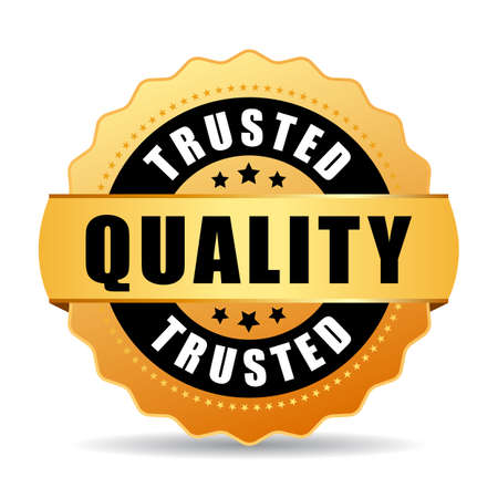 most popular: Trusted quality gold vector seal Illustration