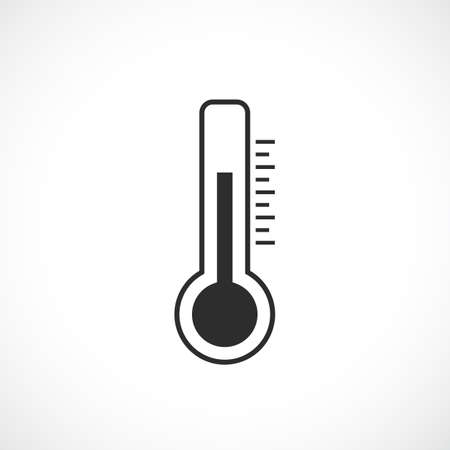 humidity: Thermometer vector pictogram