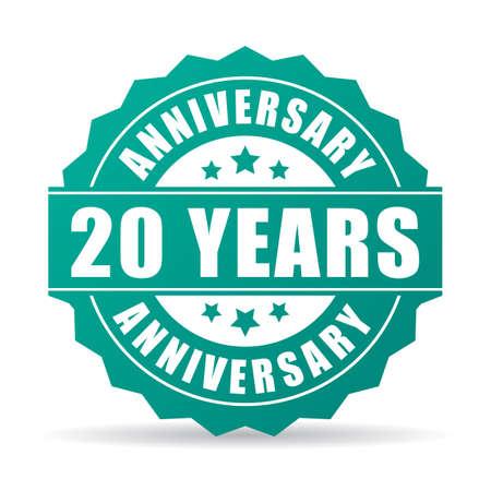 stars: 20 years anniversary celebration icon
