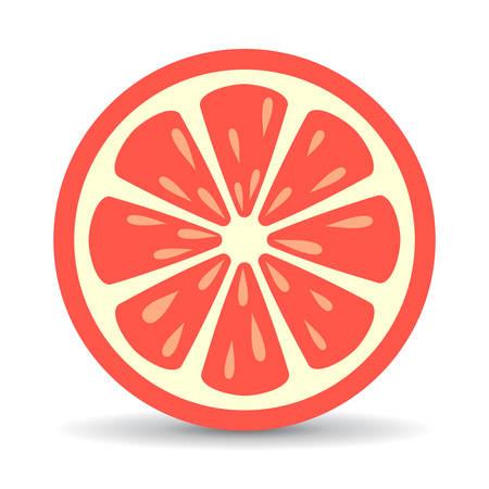 Grapefruit vector pictogram Vector Illustratie
