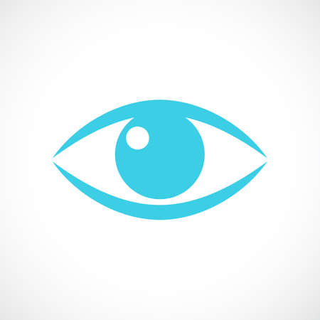 Eye pupil vector icon Illustration