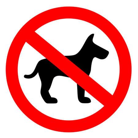 No dog vector sign