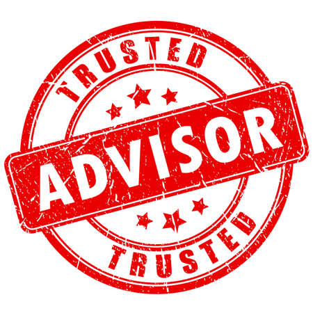Vertrauenswürdiger Berater Business-Stempel