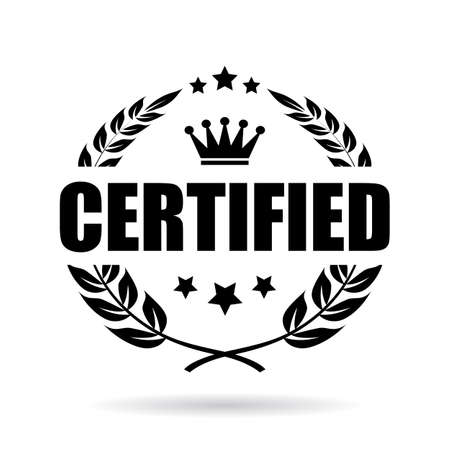 Certified vector icon