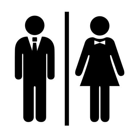 Man and woman vector icon