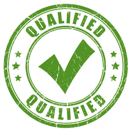Qualified green tick stamp