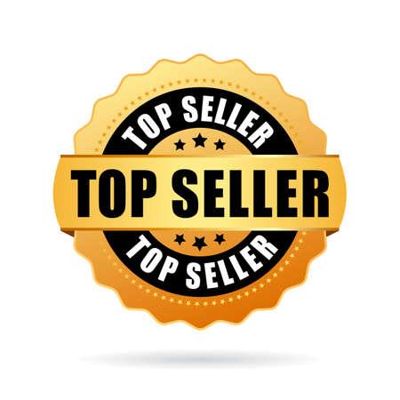 Top seller gold vector icon