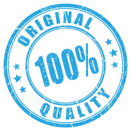 Sello de vector de goma de calidad original