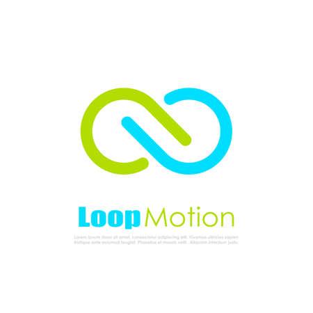 Oneindige lopende beweging abstracte vector logo Stock Illustratie