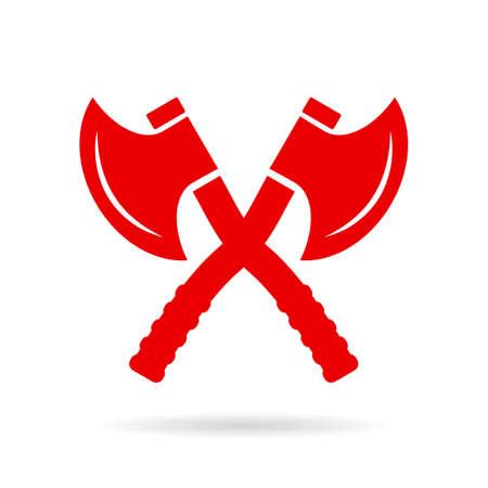 brigand: Crossed axe vector icon