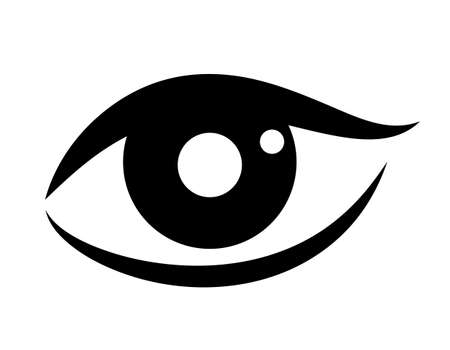 sight seeing: Woman eye vector icon