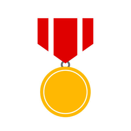 flag: Gold medal prize vector icon Illustration
