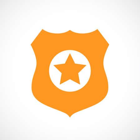security symbol: Police badge vector icon Illustration