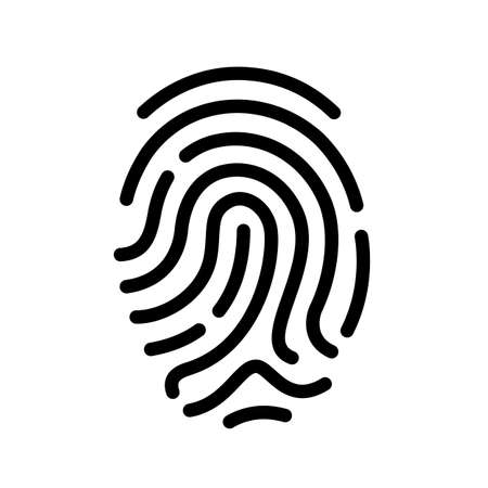 controlling: Finger print vector icon Illustration