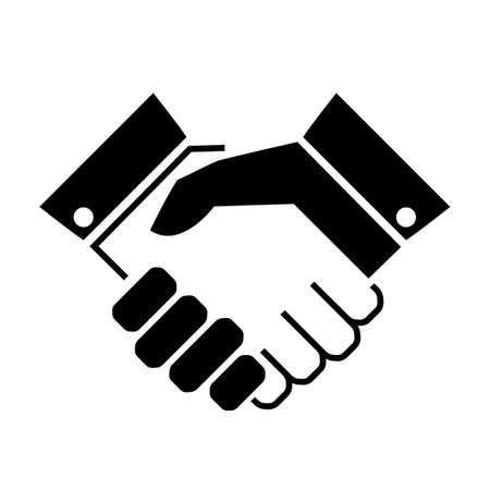 people icon: Handshake business vector icon Illustration