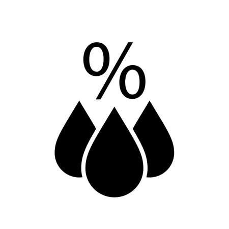 vapore acqueo: Pittogramma vettoriale meteorologia del barometro