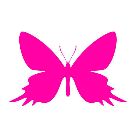 Exotic butterfly vector icon Illustration