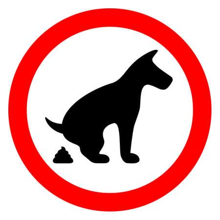 Geen enkele hond poepen beperkt teken